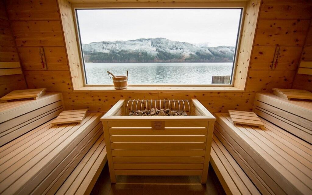 Sauna, Badehaus Millstatt, Millstätter See, Rakúsko