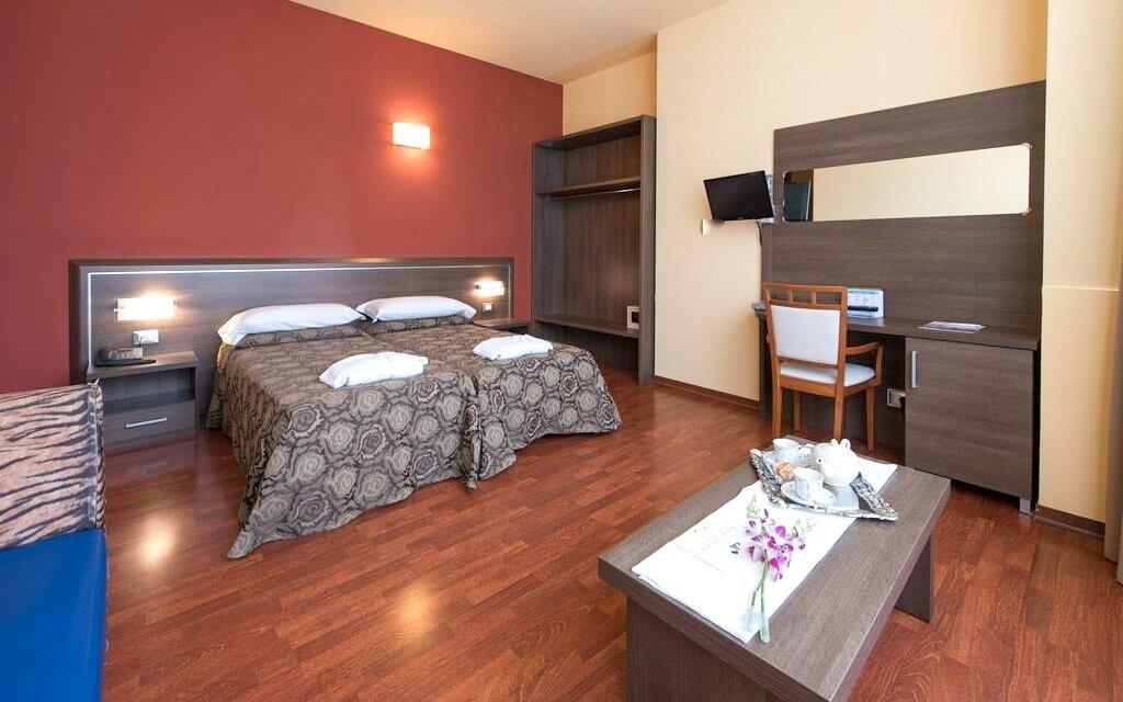 Pohodlné pokoje, Hotel Formula International, Itálie