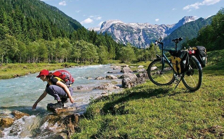 Cyklistika v horách regiónu Dachstein, Rakúsku