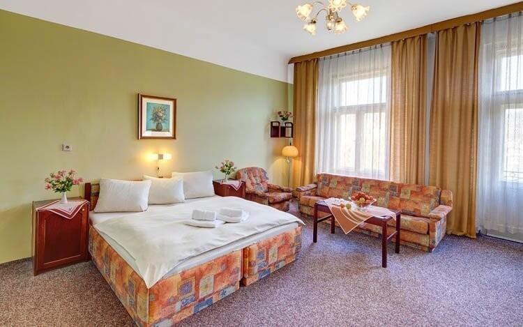 Pohodlné izby, Hotel Fontána ***, Mariánské Lázně