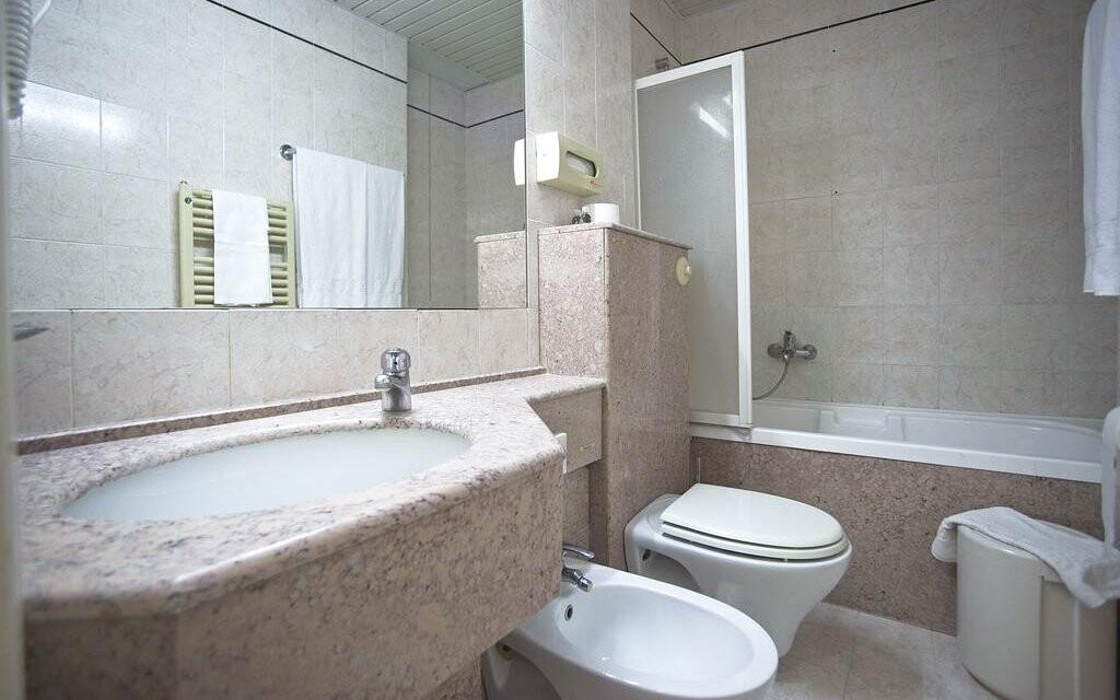 Koupelna, Hotel Villa Ricci ***, Toskánsko, Itálie