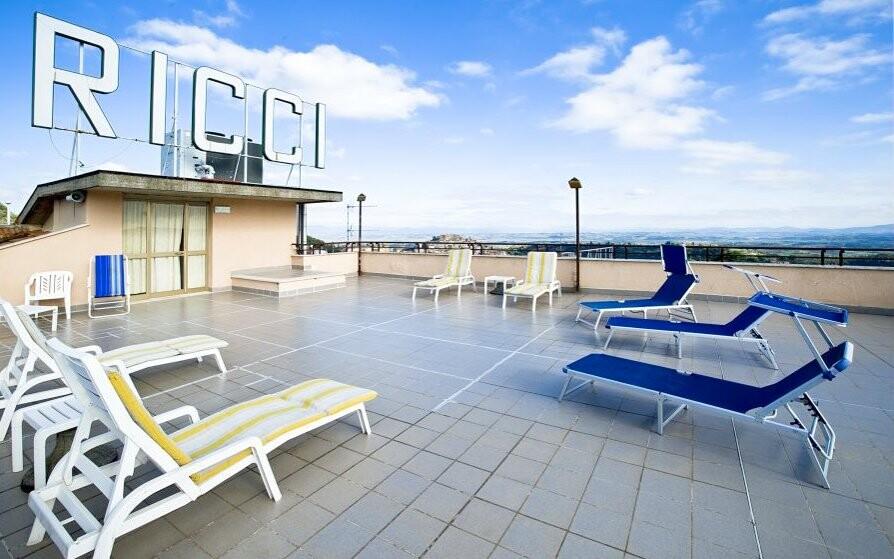Terasa, Hotel Villa Ricci ***, Toskánsko, Itálie