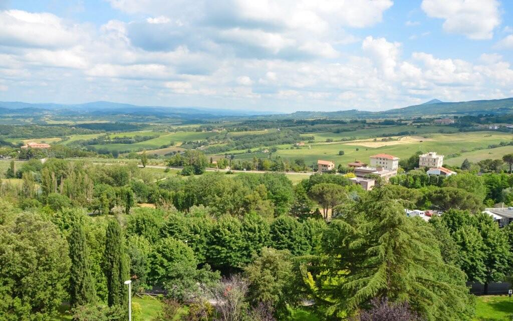 Výhled do krajiny, Hotel Villa Ricci ***, Toskánsko, Itálie