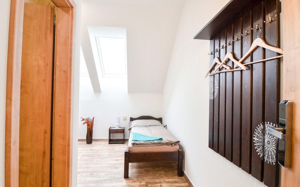 Moderne zariadené izby, Penzión Čičina, južná Morava