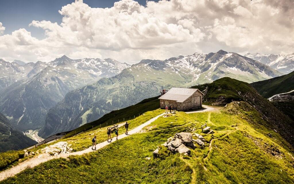 Vysokohorská turistika, Vysoké Taury, Rakúsko