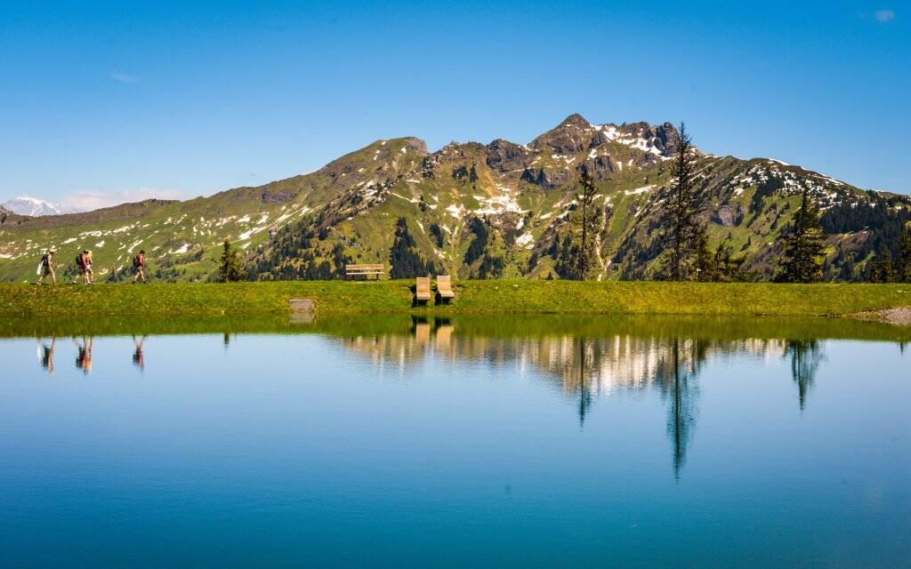 Jazero, príroda, Vysoké Taury, Rakúsko