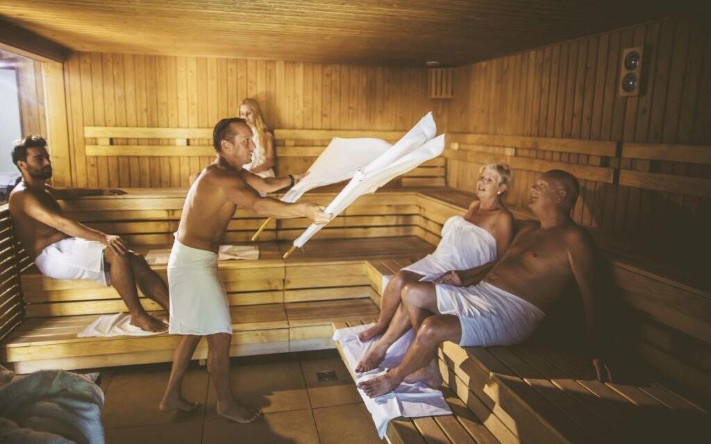 Sauna, Hunguest Hotel Répce prepojený s kúpeľmi Bükfürdo