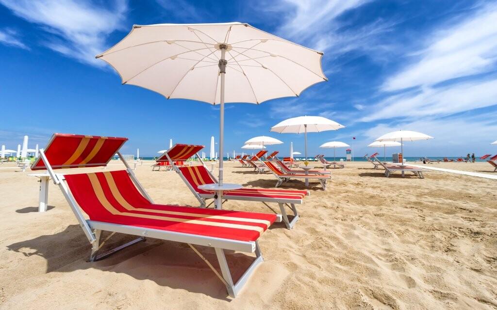 Pláž, dovolenka v Taliansku