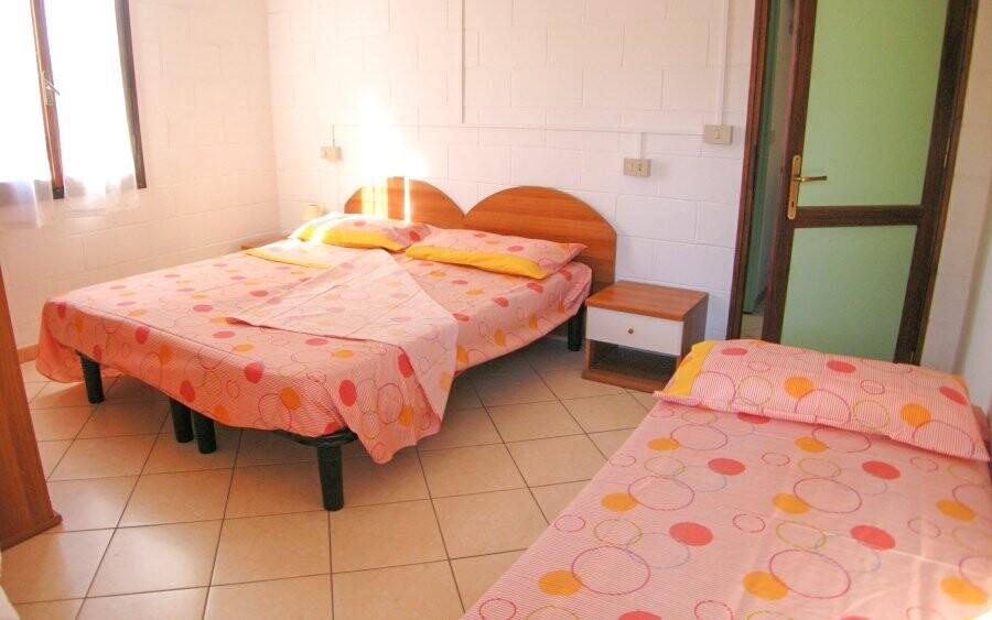 Spálňa v apartmánoch Residence Fontana, Taliansko