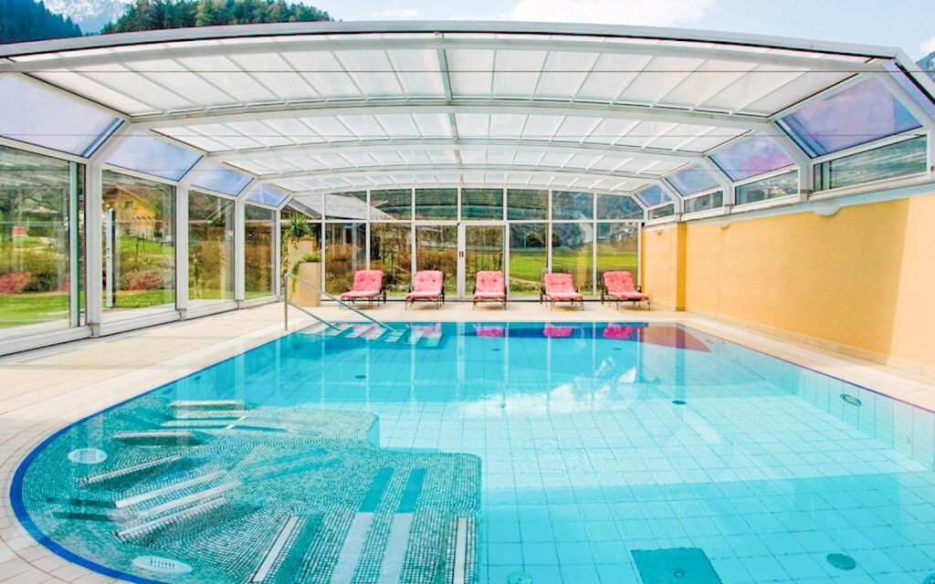 Vonkajší bazén, Hotel Gutshof Zillertal, Mayrhofen, Rakúsko