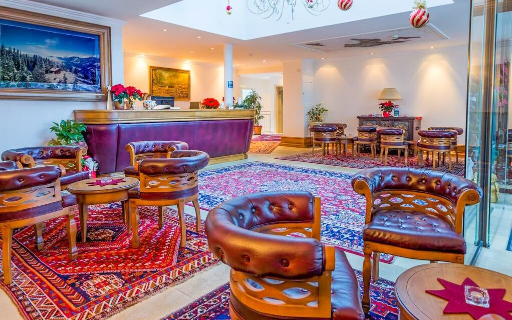 Lobby, Hotel Gutshof Zillertal, Mayrhofen, Rakúsko