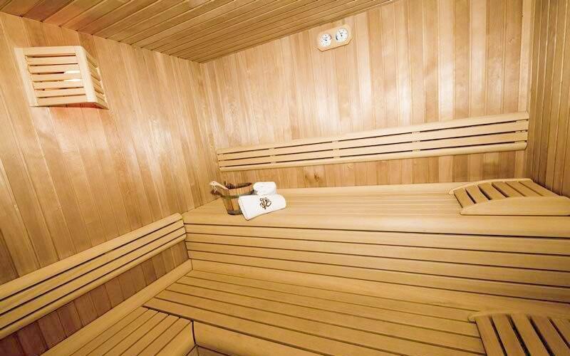 Sauna, Hotel Villa Eden ***, italské Dolomity