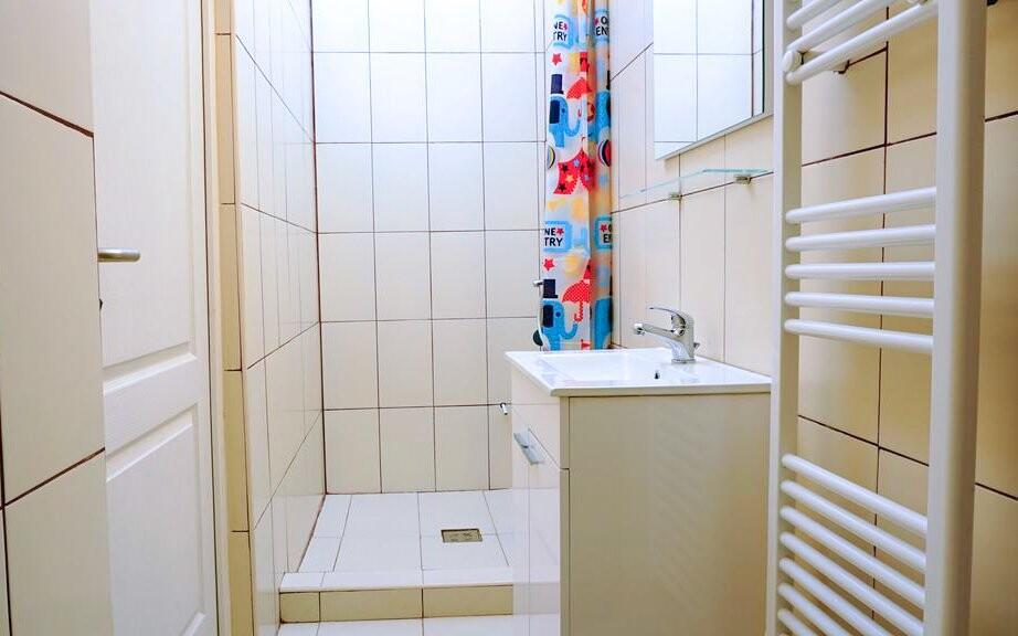 Apartmán Riverside, kúpeľňa, Appartement zur Brücke ***