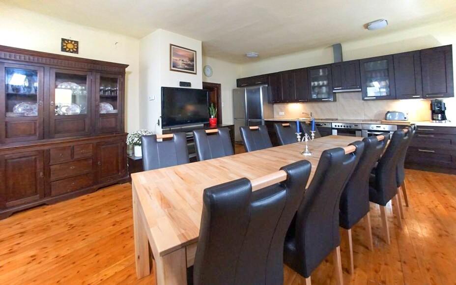 Apartmán Deluxe, kuchyňa s jedálňou, Appartement zur Brücke