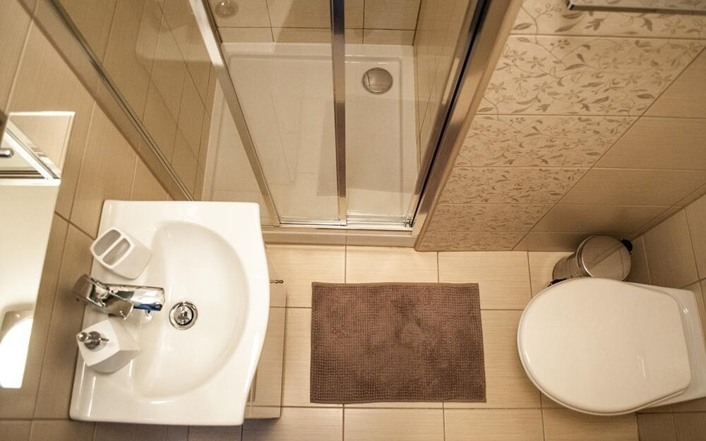 Kúpeľňa, izba, Hotel Rezident ***, Turčianske Teplice