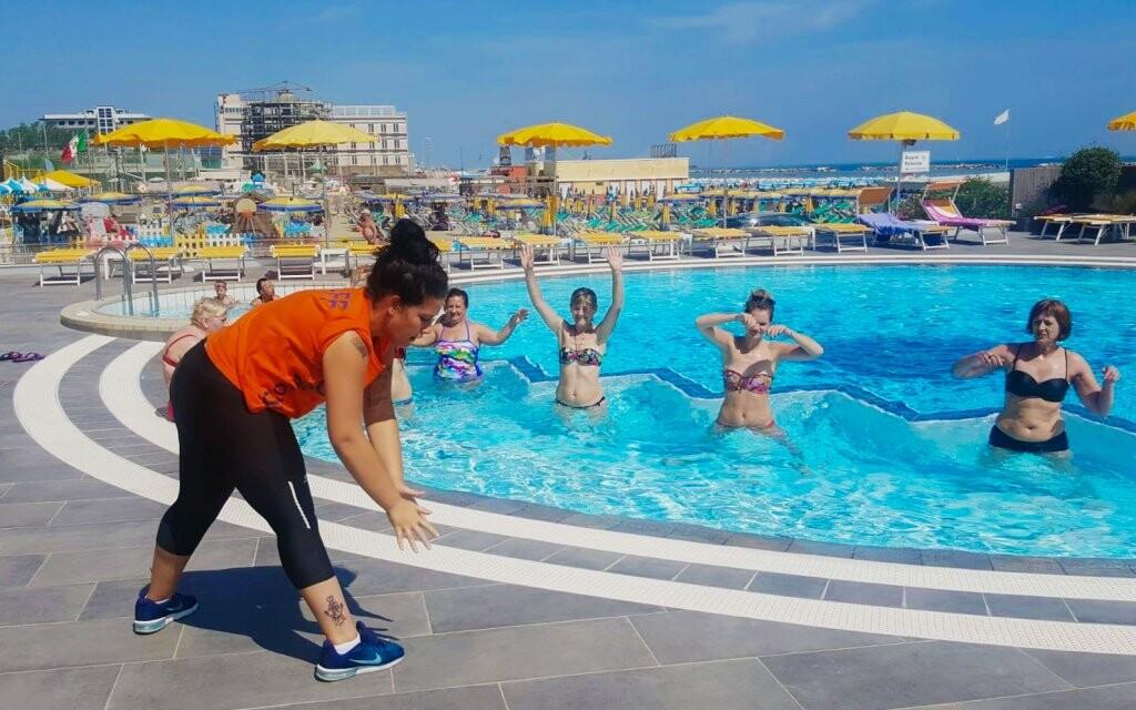 Vonkajší bazén, Hotel David ***, Cesenatico, Taliansko