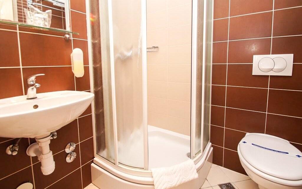 Koupelna v Hotelu Posejdon *** Vela Luka Chorvatsko