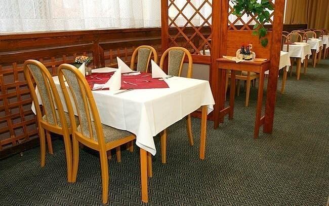 Interiér reštaurácie, Hotel Polonia, Mariánské Lázně