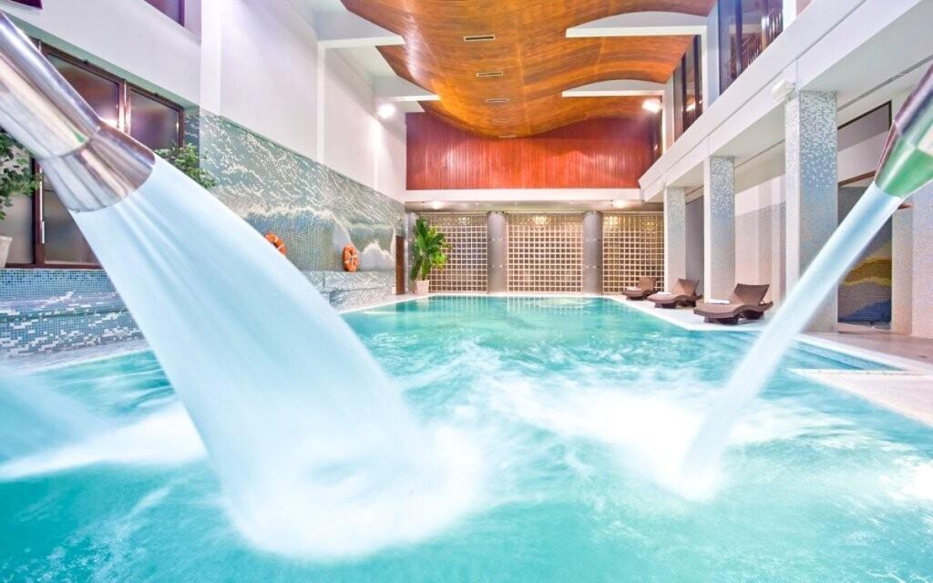 Bazén v aquaparku v Hoteli Klimek **** SPA