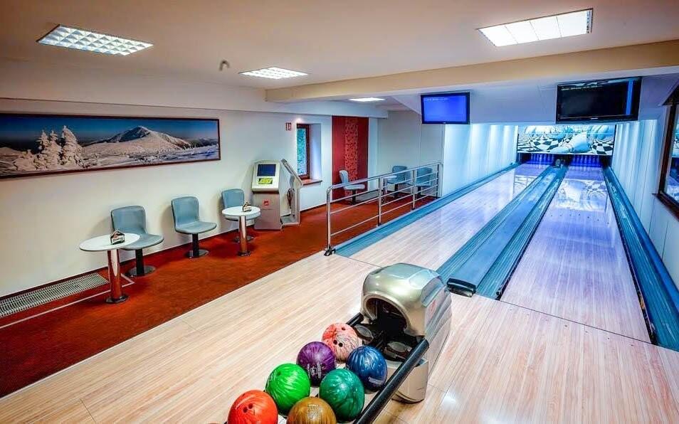 Bowlingové dráhy v Pensionu Relax