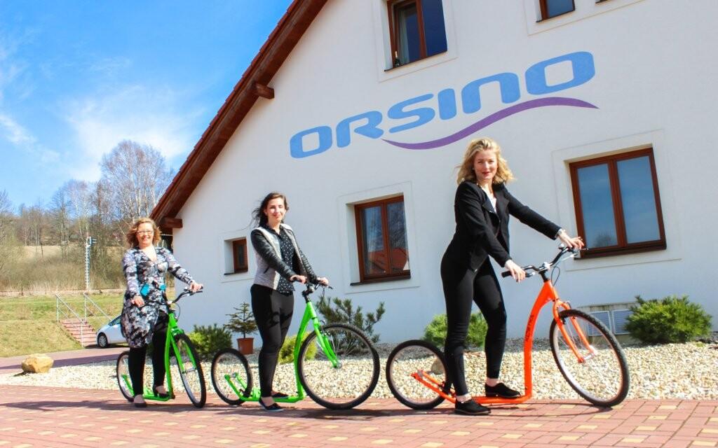 Půjčení koloběžek, Hotel Orsino **** u přehrady Lipno