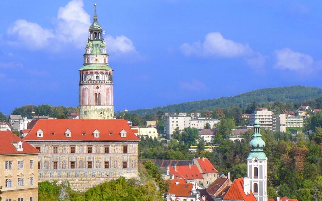 Český Krumlov, pamiatka UNESCO, južné Čechy