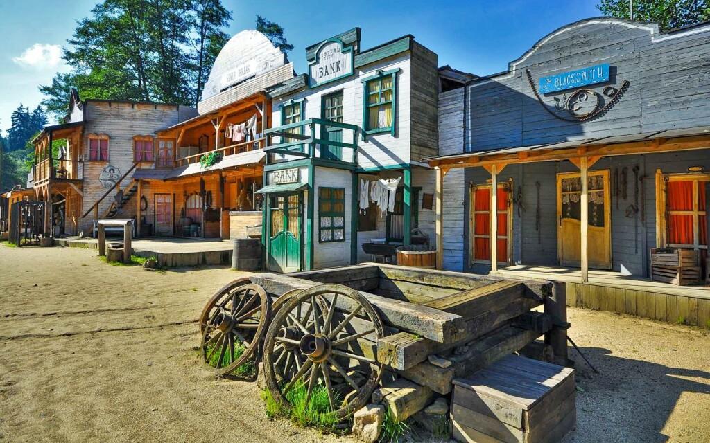 Westernové městečko Šiklův mlýn, zábavní komplex Šikland