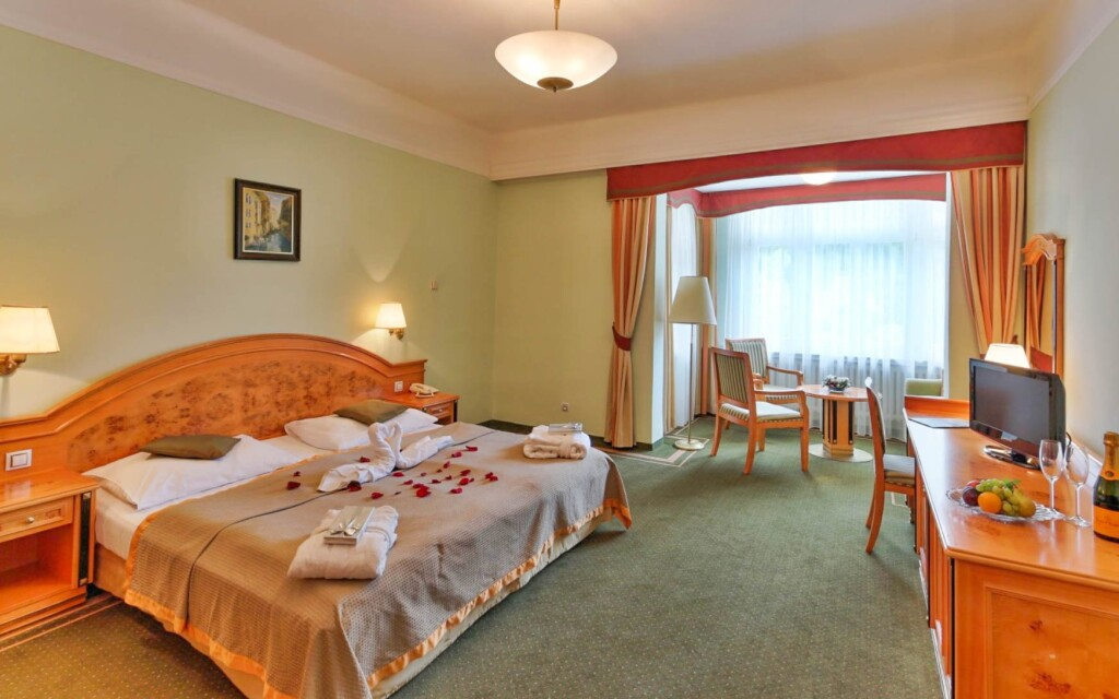 Luxusné útulné izby v Parkhoteli Golf Mariánské Lázně ****
