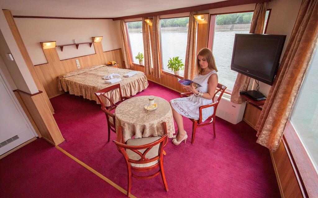 Superior szoba, Fortuna Boat Hotel *** Budapest