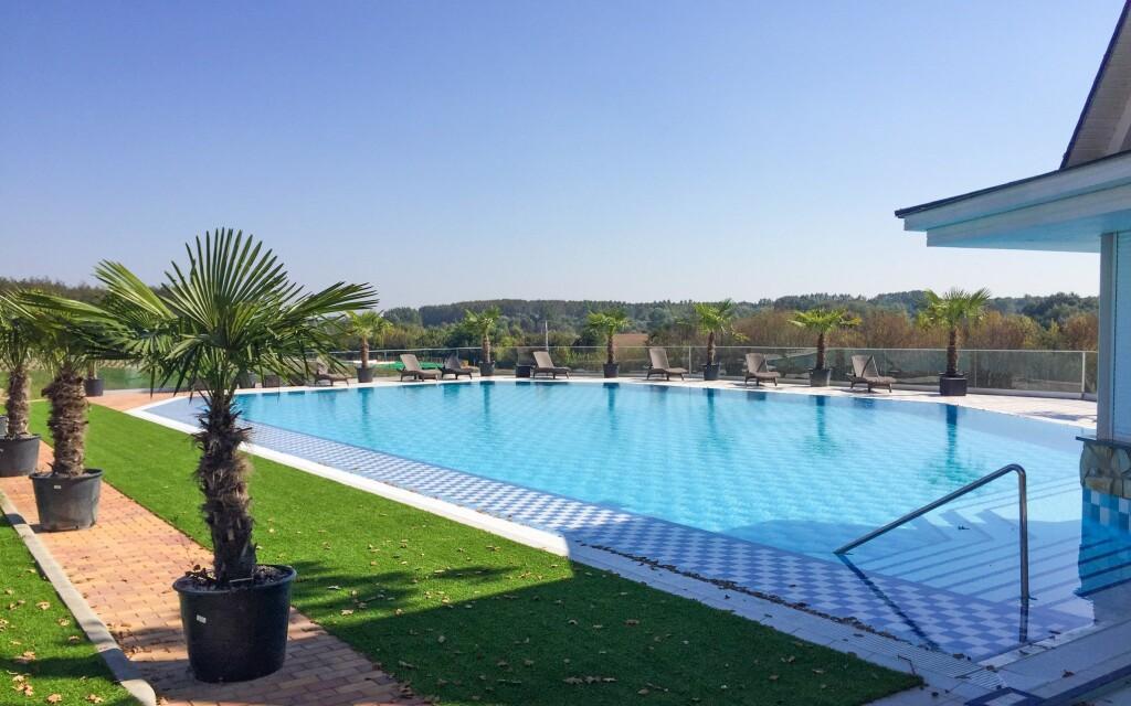 Wellness, venkovní bazén, Borostyán Med Hotel, Maďarsko