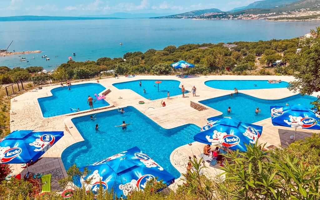 Bazény, Kemp Klenovica, Chorvátsko