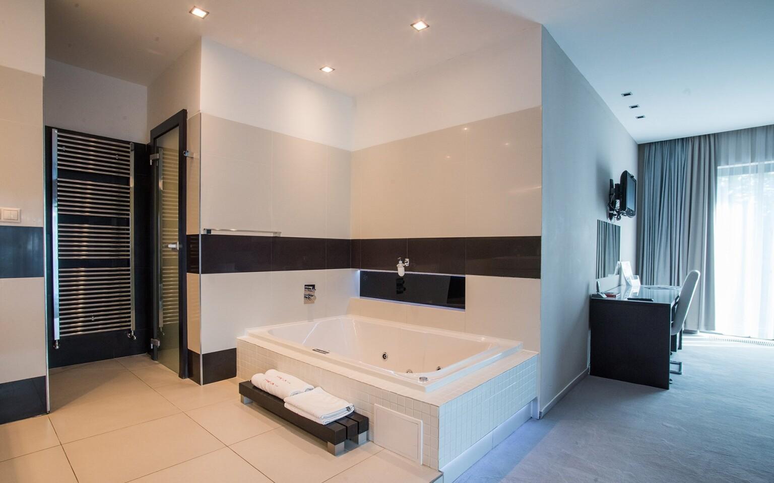 Apartmán s vírivou vaňou je luxusný