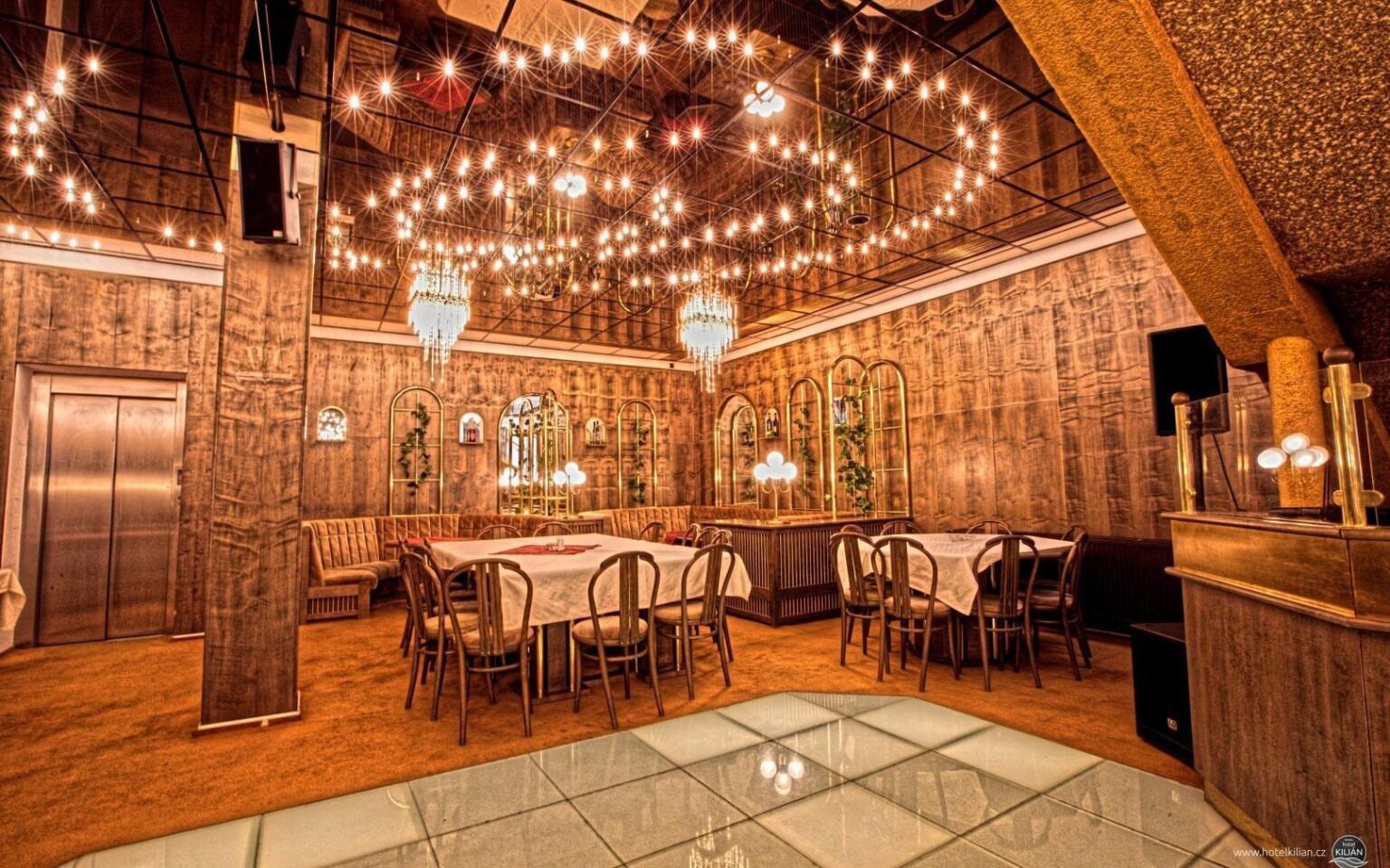 Restaurace je elegantně zařízená