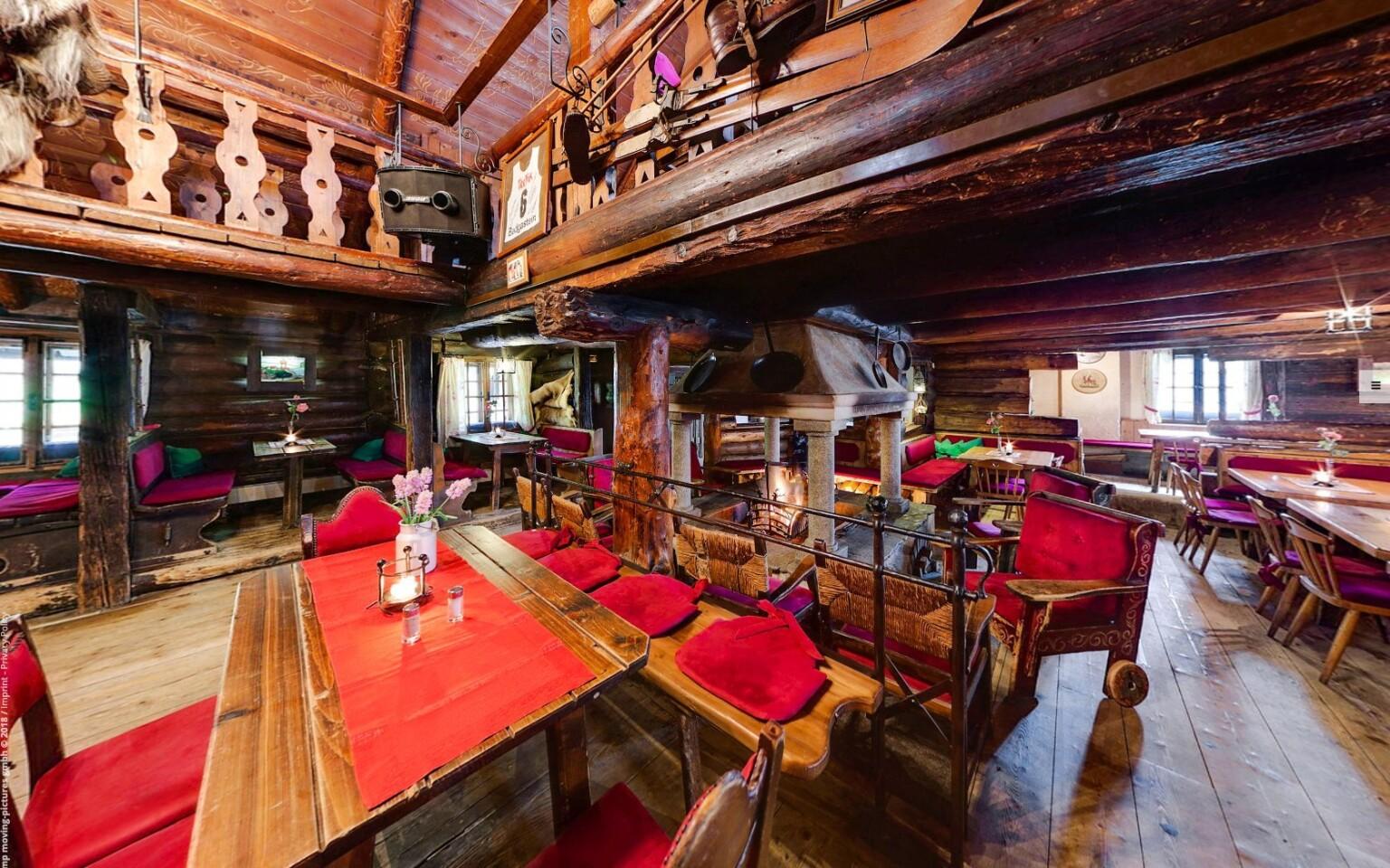 Štýlová reštaurácia Bellevue Alm Gastein Rakúsko