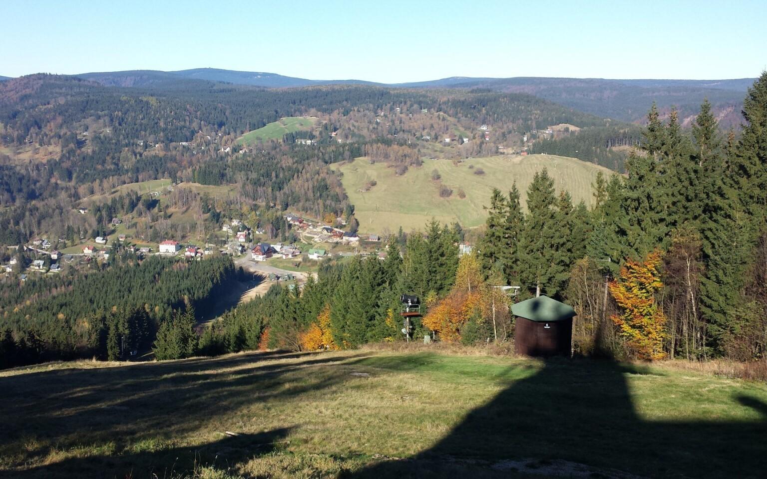 Krásná příroda Jizerských hor u Hotelu Bon