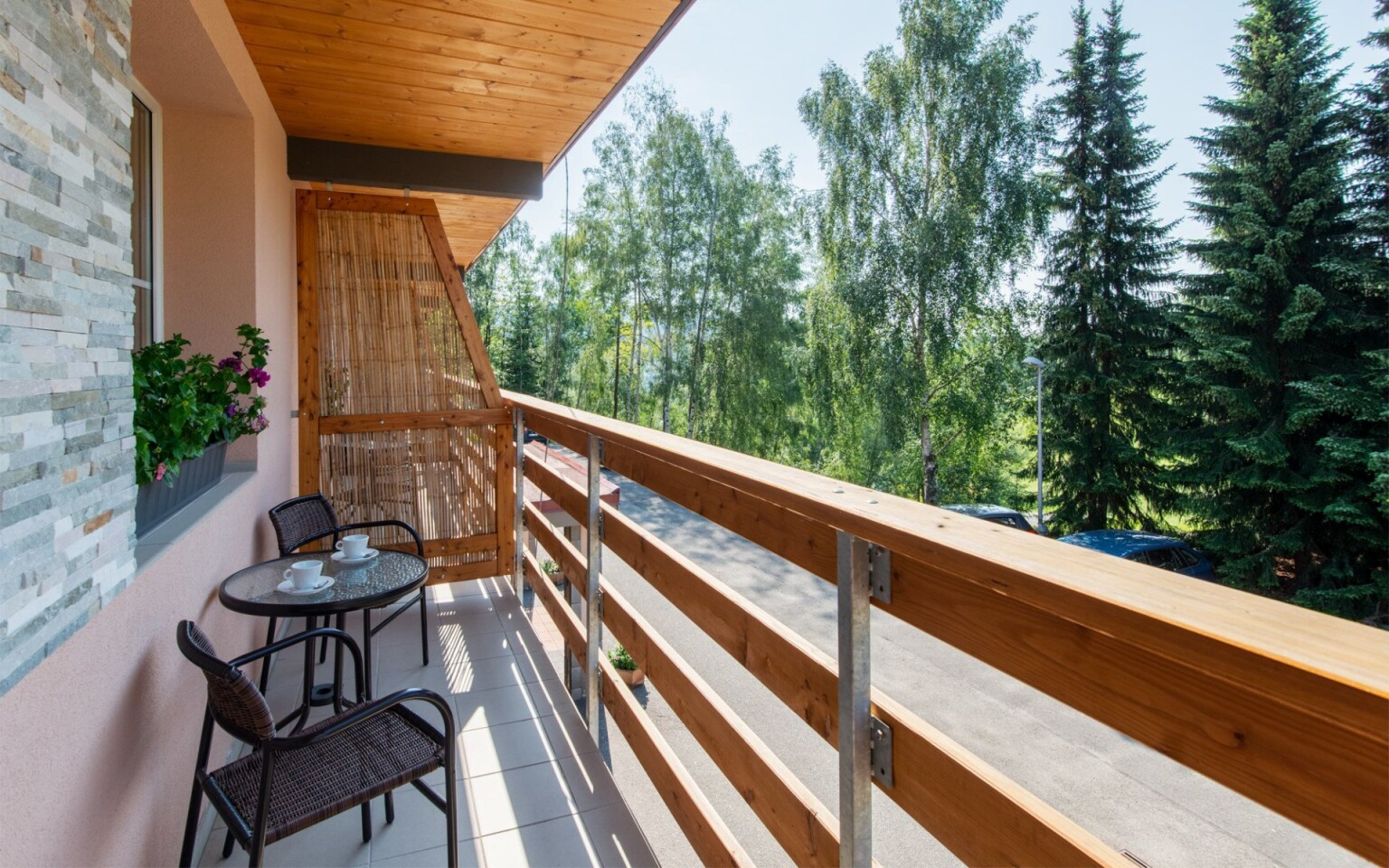 Pokoje, balkon, Hotel Bon, Tanvald, Jizerské hory
