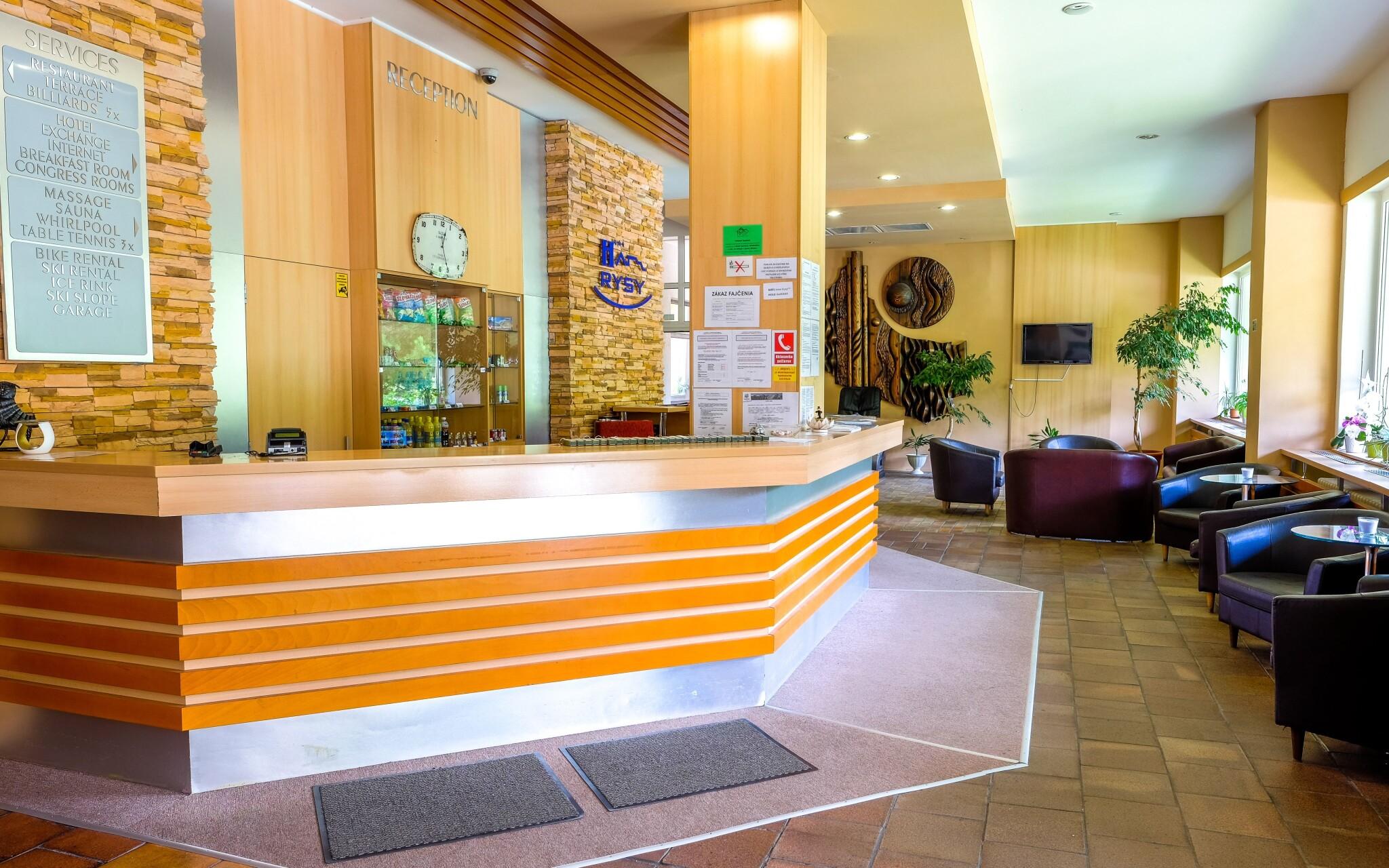 Recepcia, lobby bar, Hotel Rysy, Vysoké Tatry