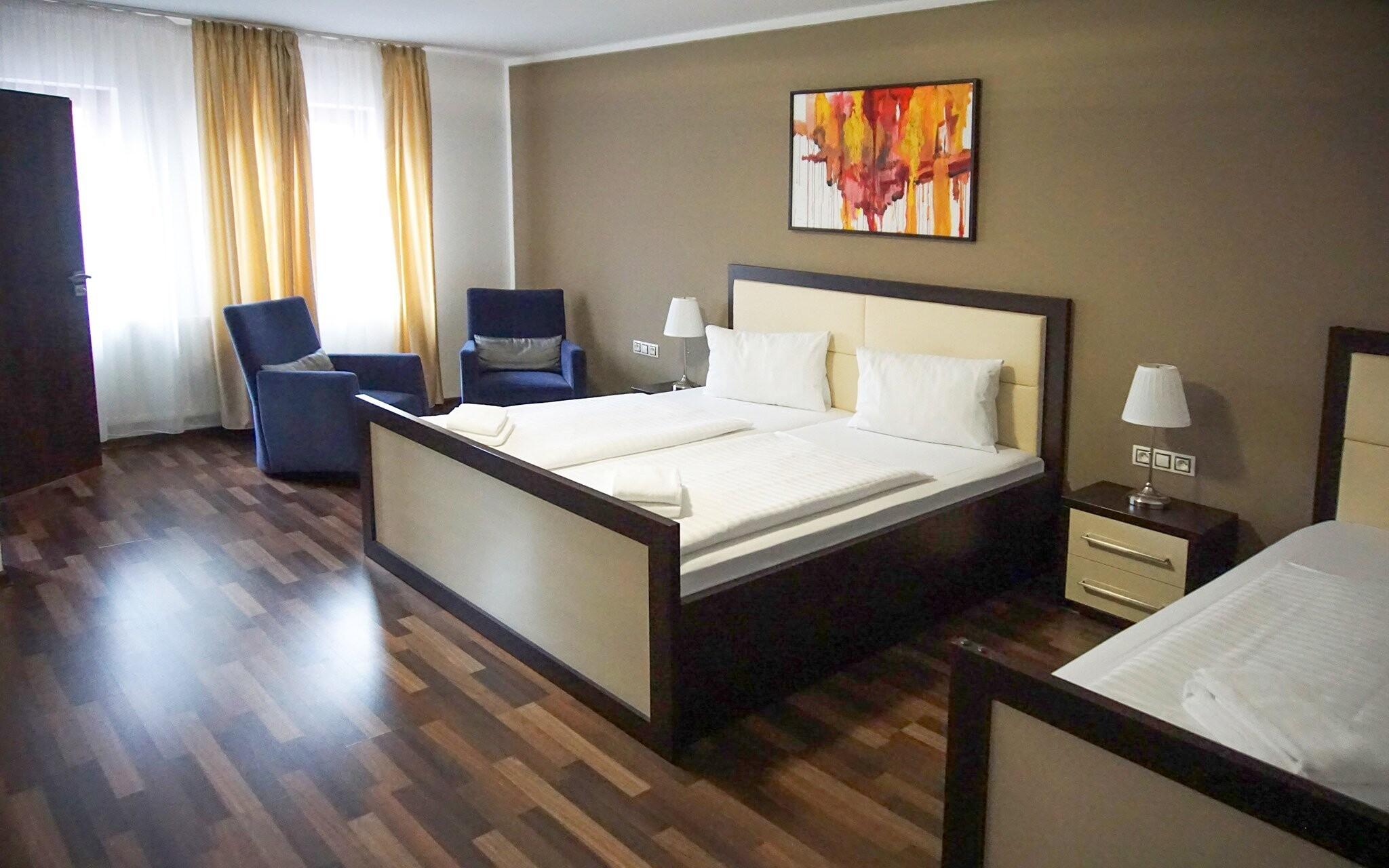 Pokoje Standard jsou komfortní, Hotel Corona, jižní Čechy