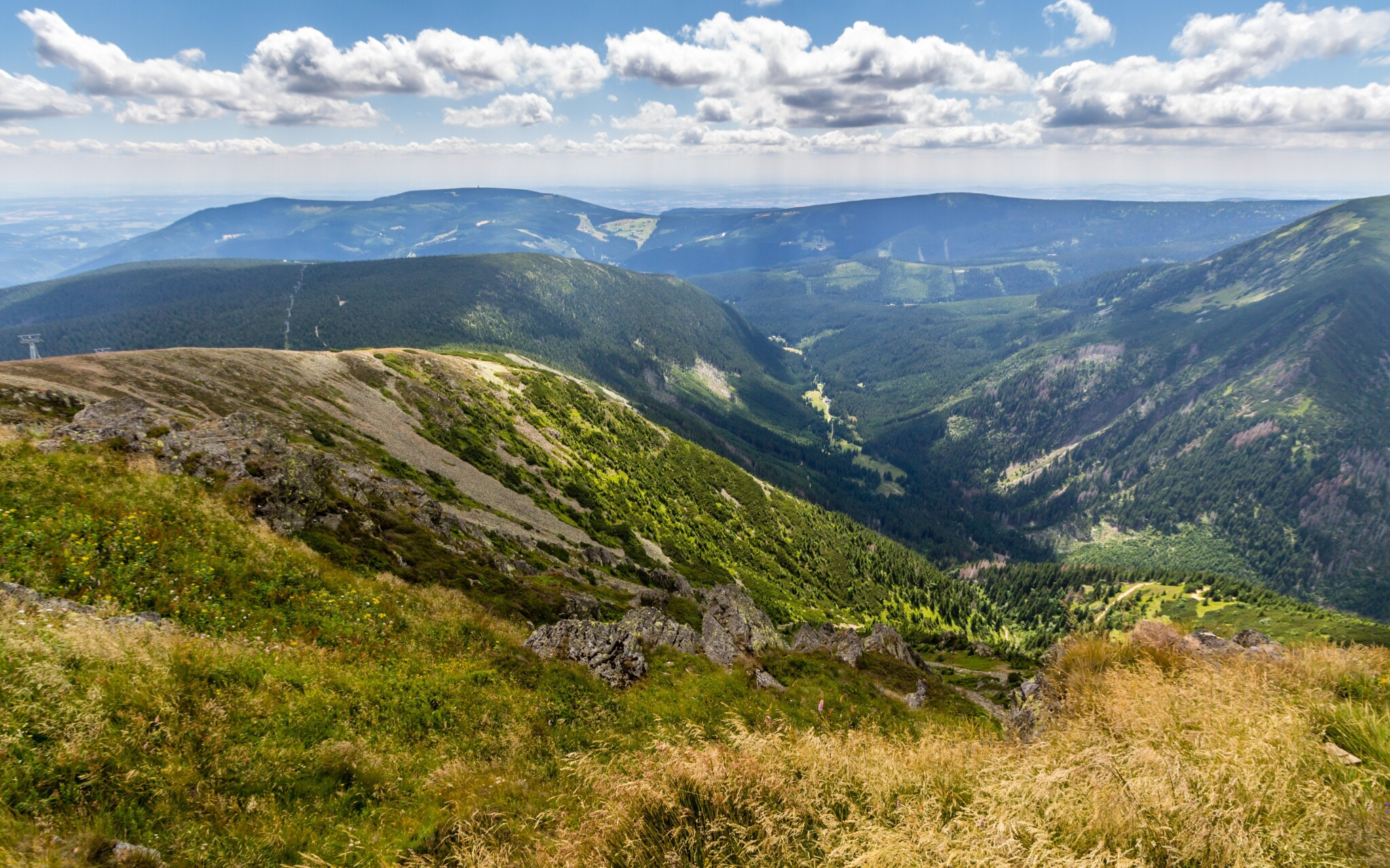Krkonošský národný park je plný krásnych výhľadov