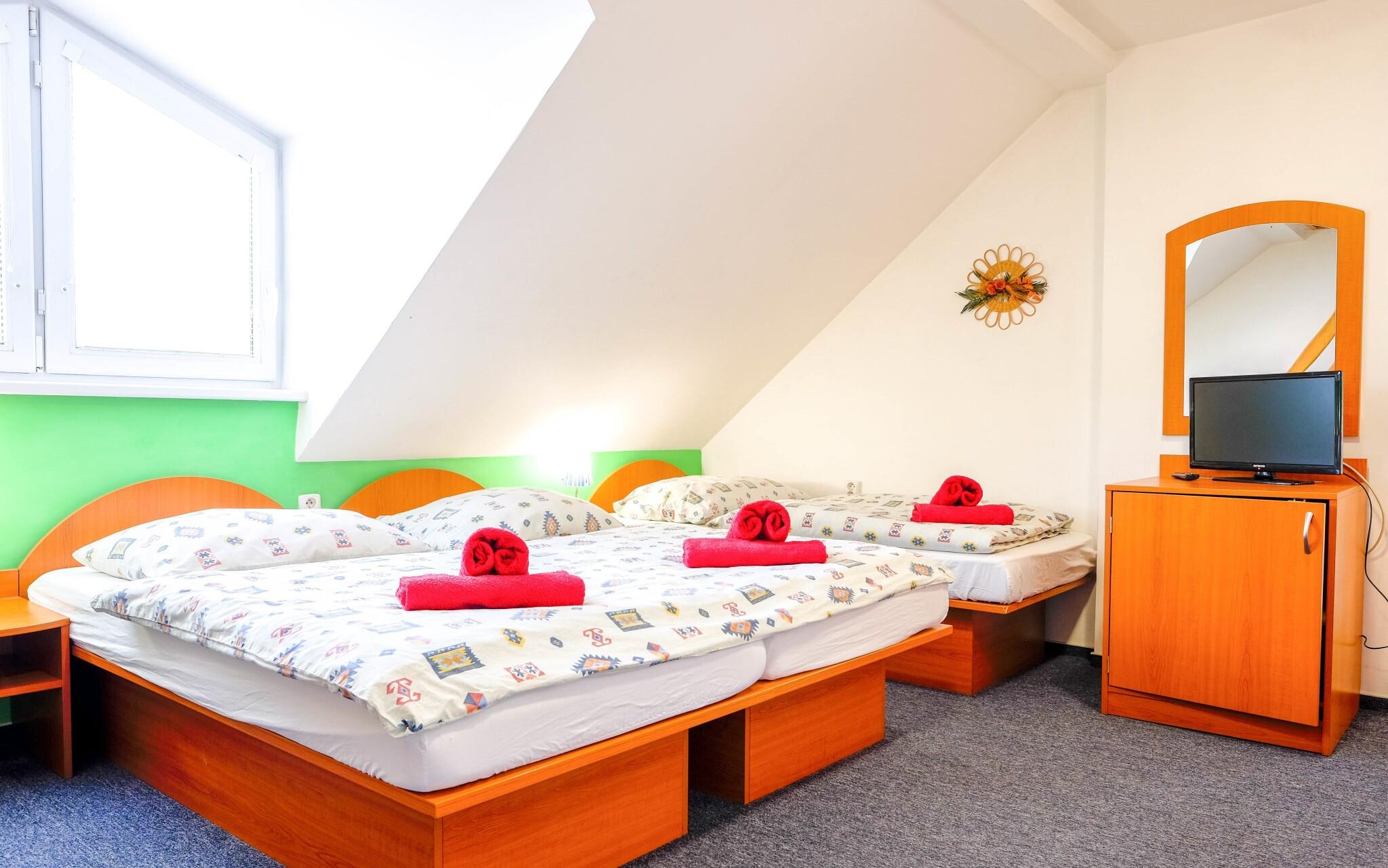 Niektoré izby sa nachádzajú v podkroví