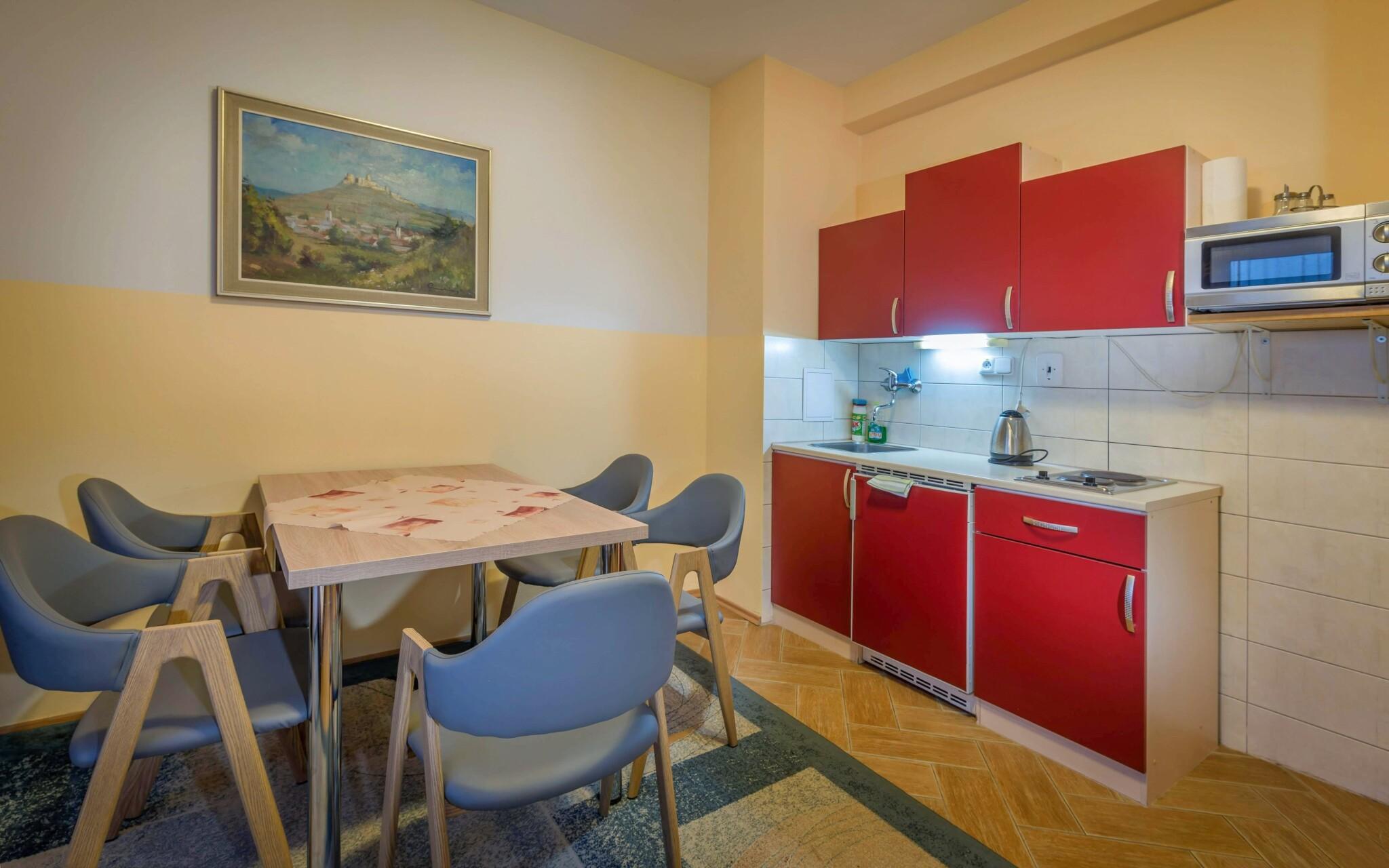 Apartmán s balkonem pro tři osoby, možnost dvou přistýlek
