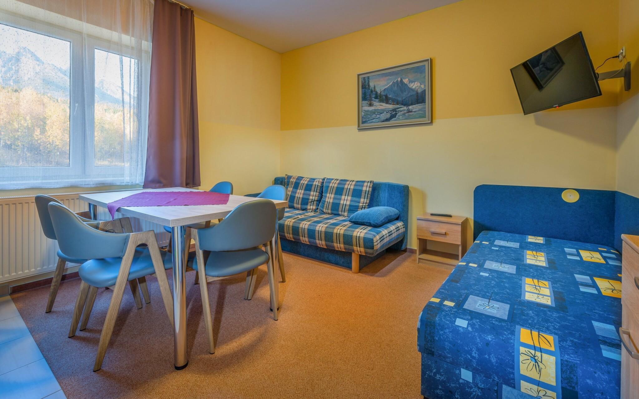 Apartmán s výhledem na hory - až pro 5 osob, obývací pokoj