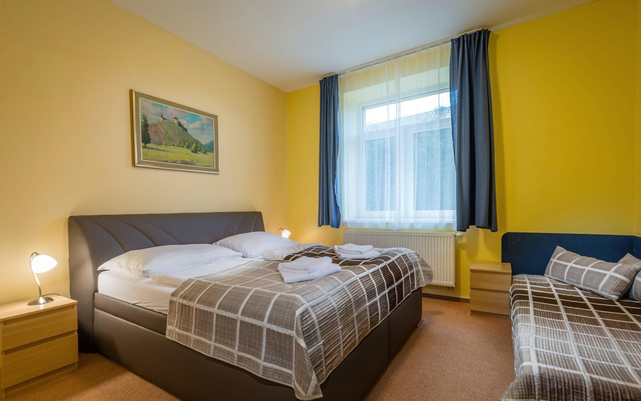 Bezbariérový apartmán až pro 5 osob, ložnice