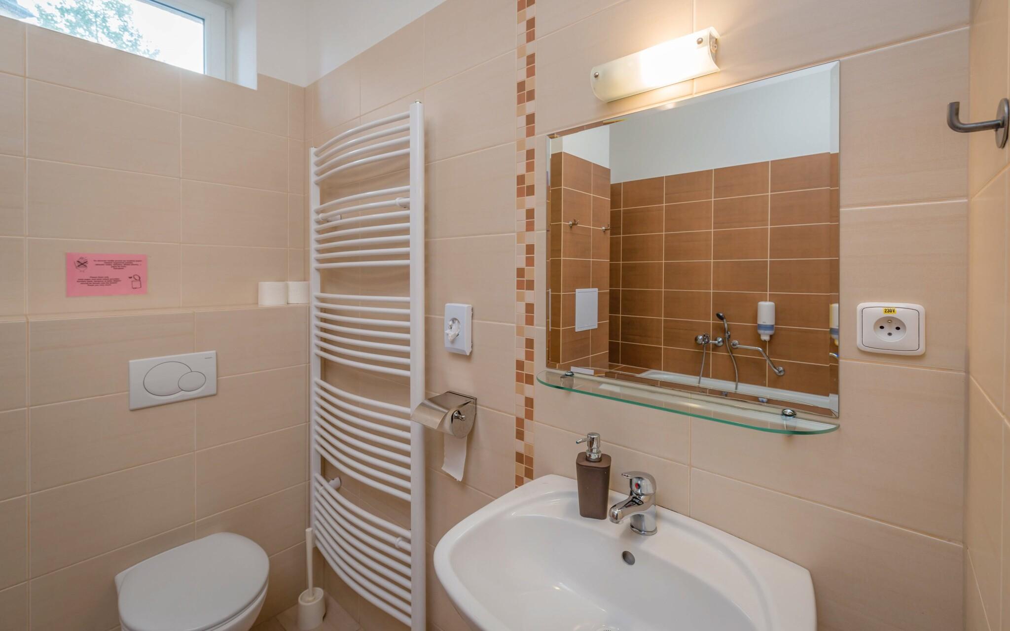 Bezbariérový apartmán až pro 5 osob, koupelna