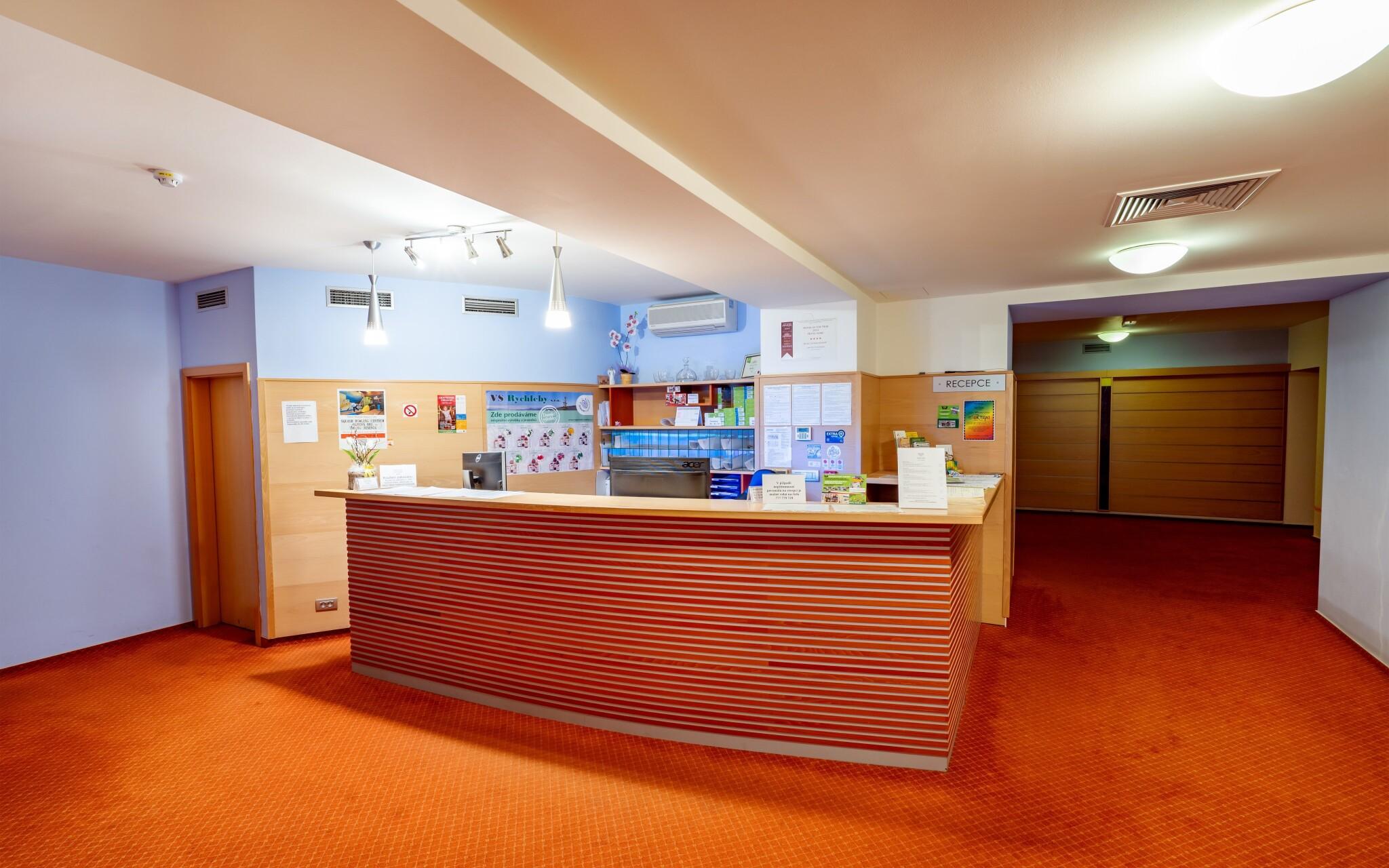 Recepcia, Hotel Slovan, Jeseníky