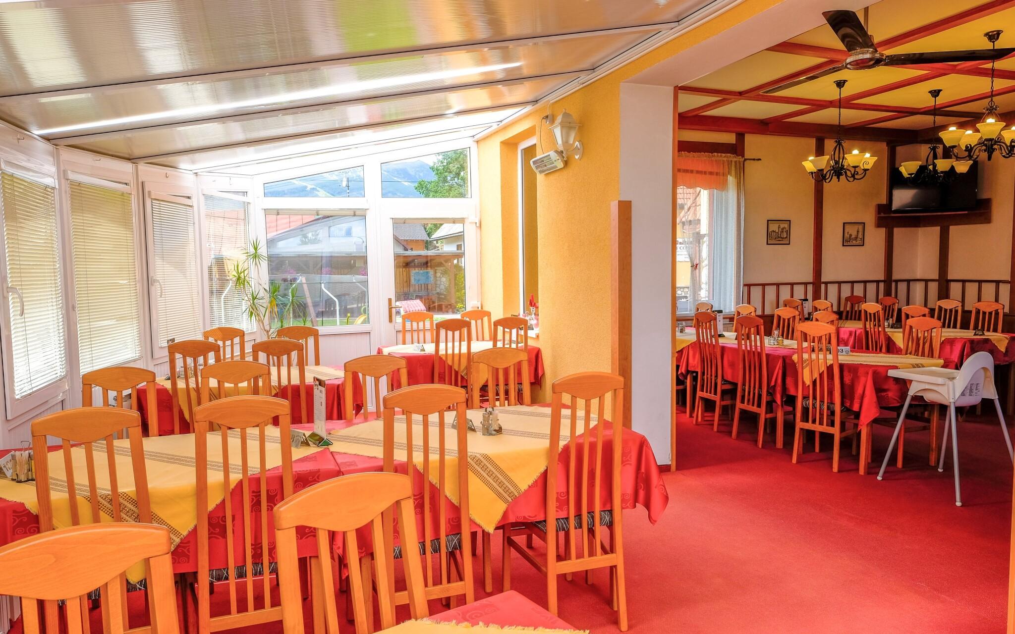 V restauraci penzionu Baďo si pochutnáte