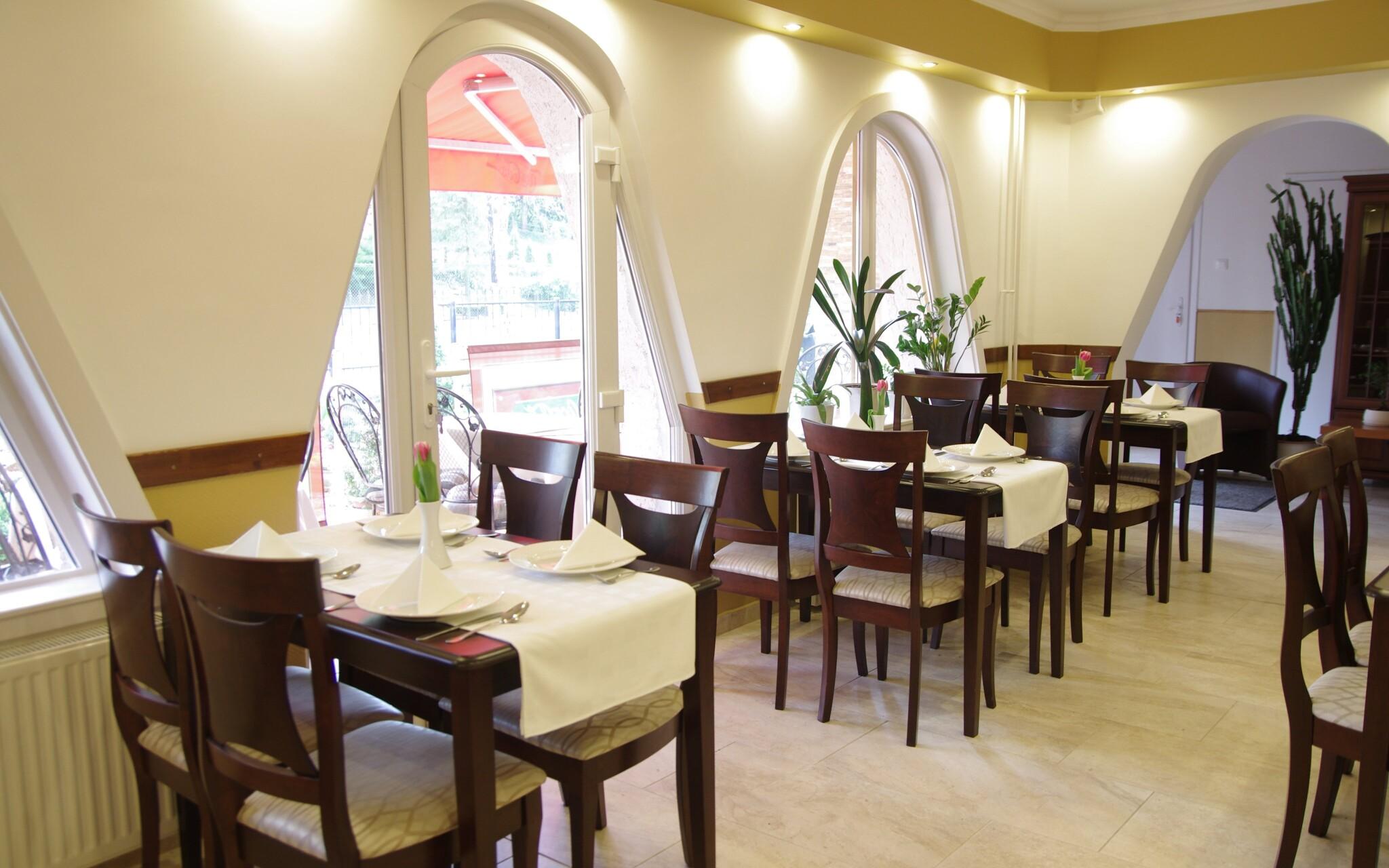 Polopenzi si vychutnáte v klidné restauraci