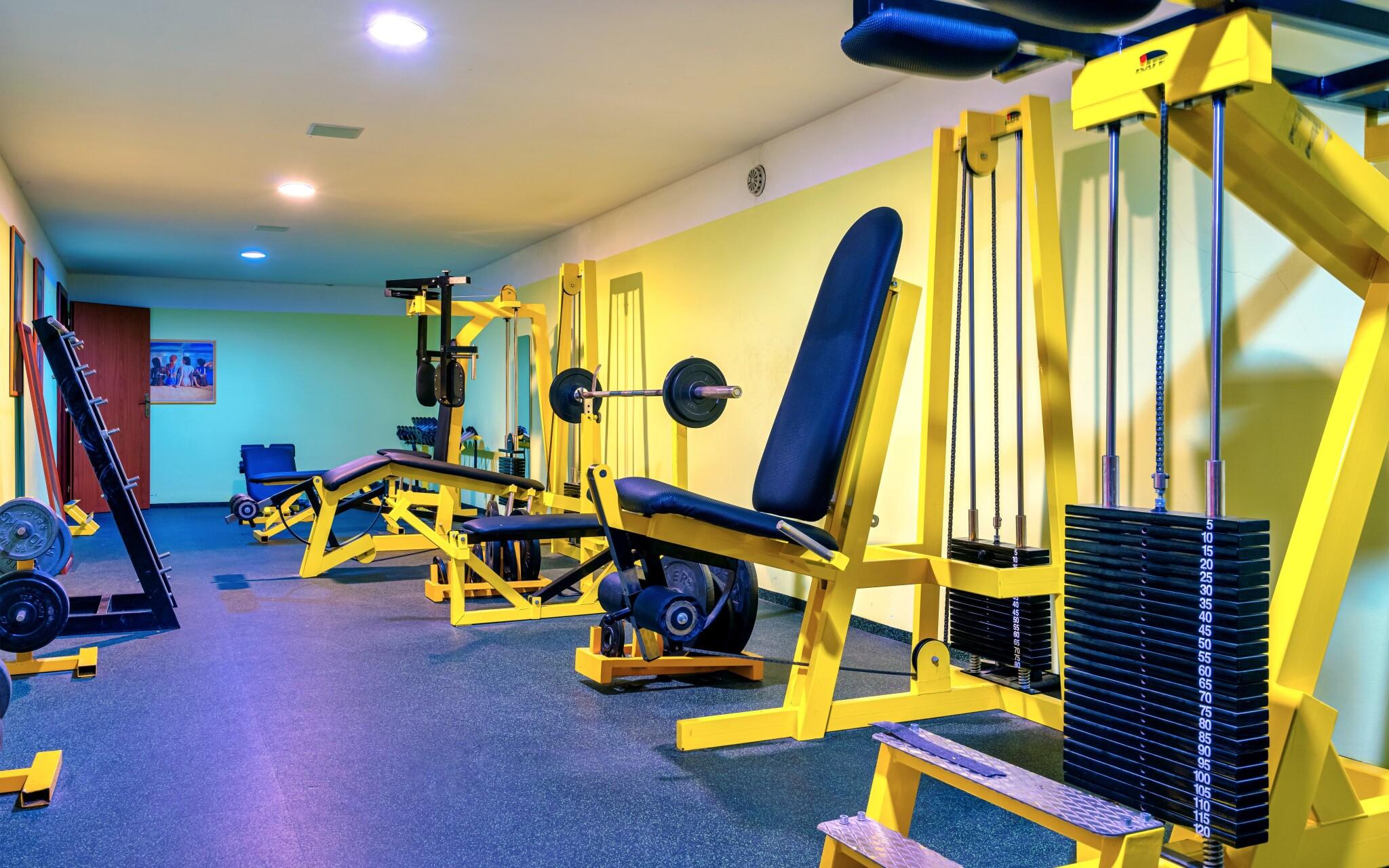 Hotel má vlastní fitness centrum