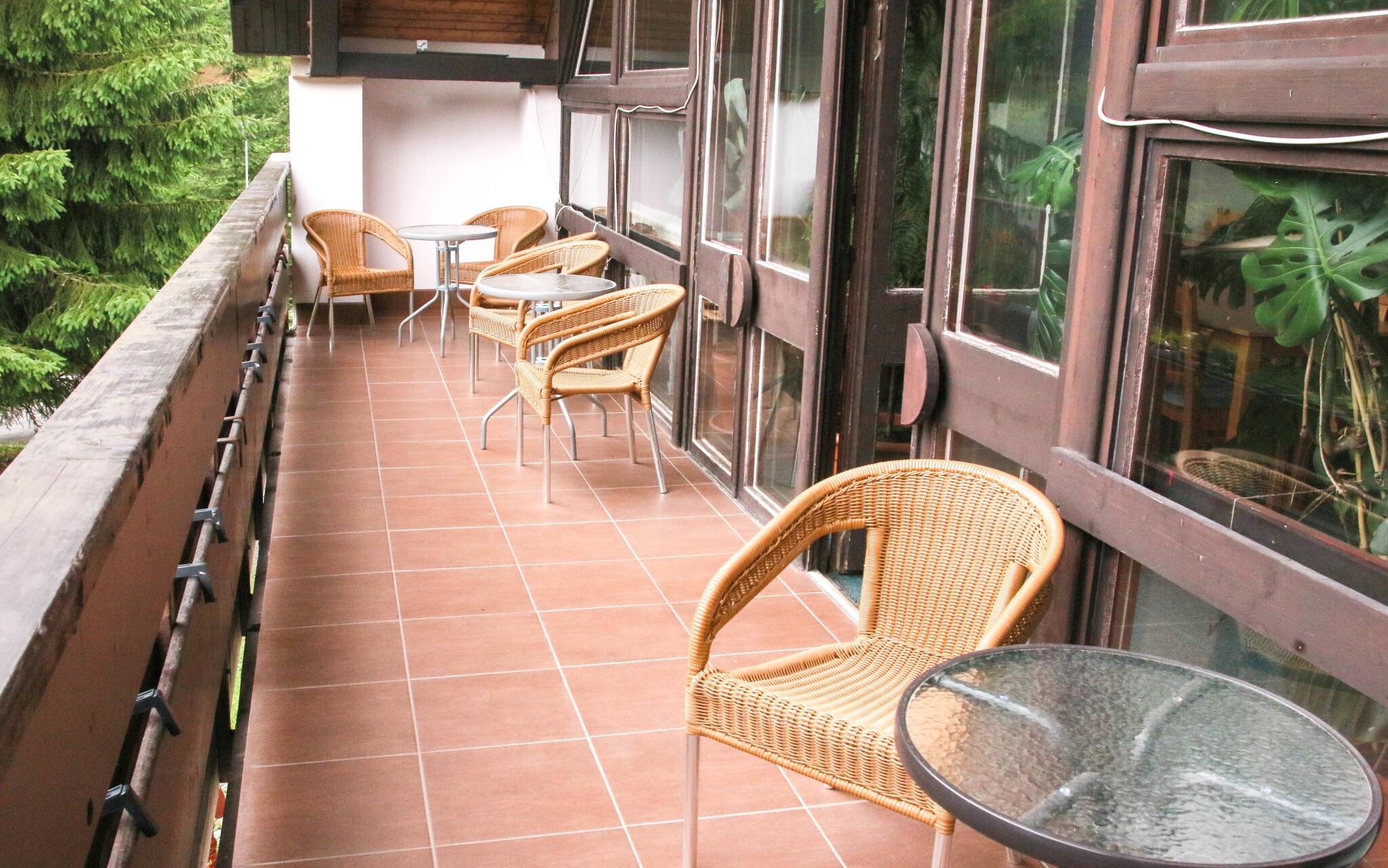 Z Hotelu SKI budete mít krásný výhled na Nízké Tatry