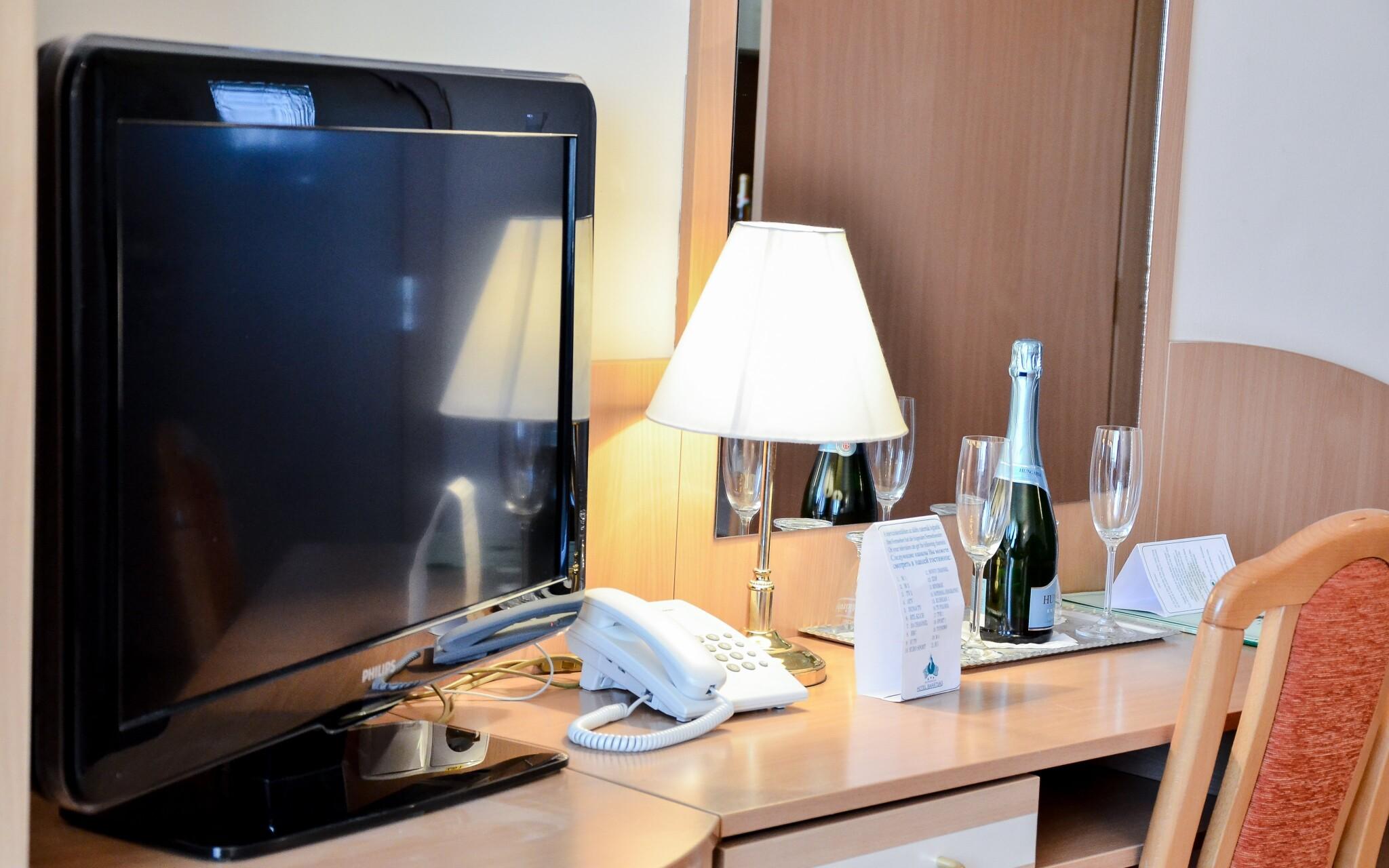 Příjemně zařízené pokoje hotelu pro maximální pohodlí